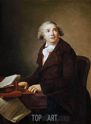 Elisabeth-Louise Vigee Le Brun | Portrait of Giovanni Paisiello, a.1791