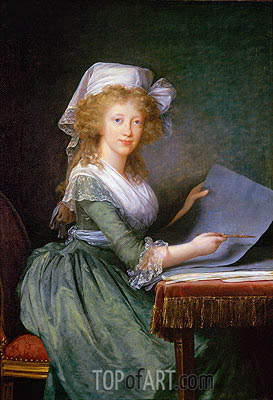 Elisabeth-Louise Vigee Le Brun | Mary Louise of Bourbon-Sicily, Grand Duchess of Tuscany, 1790