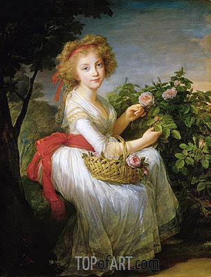 Elisabeth-Louise Vigee Le Brun | Portrait of Marie-Christine of Bourbon-Naples, c.1790