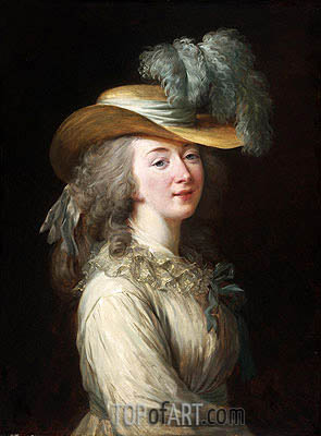 Portrait of Madame Du Barry, 1781 | Elisabeth-Louise Vigee Le Brun| Painting Reproduction