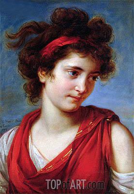 Elisabeth-Louise Vigee Le Brun | Portrait of Maguerite Porporati, 1792
