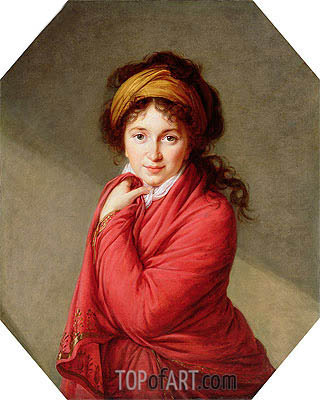 Portrait of Countess Varvara Nikolaevna Golovine, nee Galitzine, c.1797/00 | Elisabeth-Louise Vigee Le Brun| Painting Reproduction