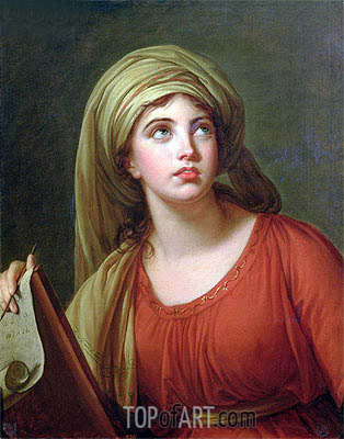 Portrait of Emma Hart, later Lady Hamilton, as a Sibyl, c.1792 | Elisabeth-Louise Vigee Le Brun| Painting Reproduction