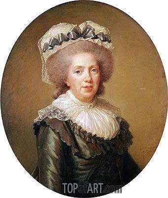 Elisabeth-Louise Vigee Le Brun | Portrait of Adelaide de France, 1791