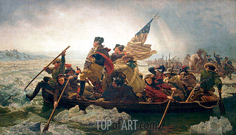 Washington Crossing the Delaware, 1851 | Leutze | Painting Reproduction