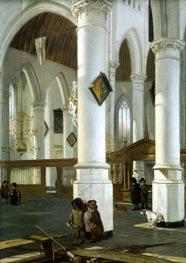 Interior of the Old Church in Delft, c.1650/52 von Emanuel de Witte | Gemälde-Reproduktion