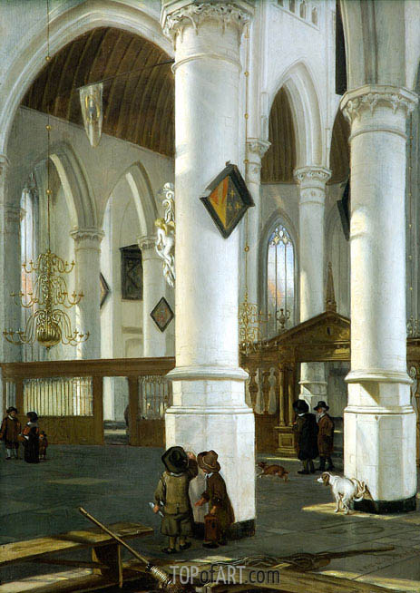 Interior of the Old Church in Delft, c.1650/52 | Emanuel de Witte | Gemälde Reproduktion