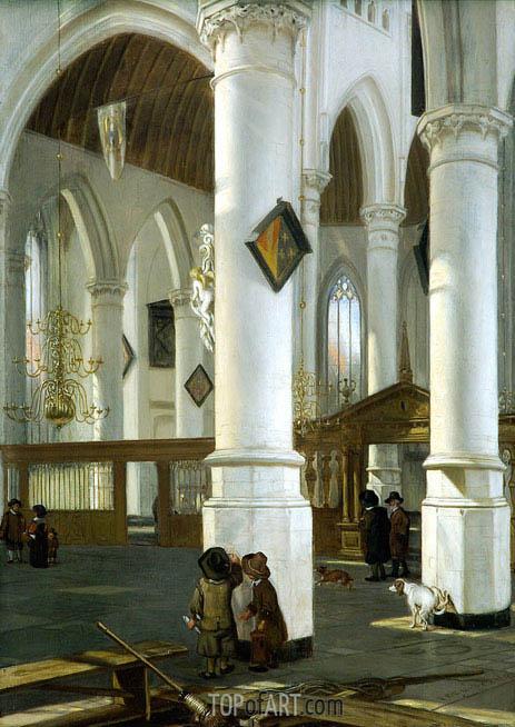Emanuel de Witte | Interior of the Old Church in Delft, c.1650/52