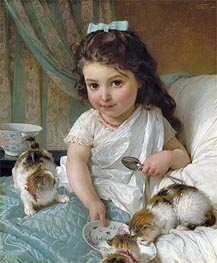 The Morning Meal, 1880 by Emile Munier | Painting Reproduction