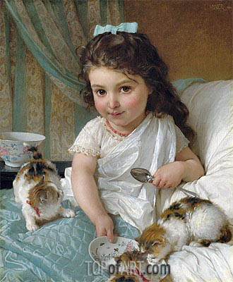 Emile Munier | The Morning Meal, 1880