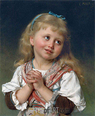 The Prayer, 1881 | Emile Munier | Painting Reproduction