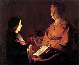 The Education of the Virgin, c.1650 von Etienne de la Tour | Gemälde-Reproduktion