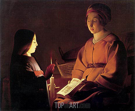 The Education of the Virgin, c.1650 | Etienne de la Tour | Painting Reproduction