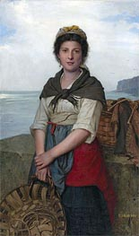 The Fishergirl, Undated by Eugene-Marie Salanson | Painting Reproduction