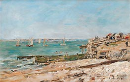 Villerville, the Shore | Eugene Boudin | Painting Reproduction