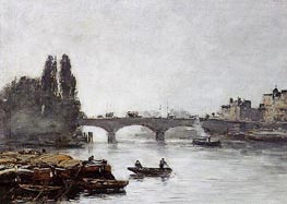 Rouen, the Pont Corneille, Fog Effect | Eugene Boudin | outdated