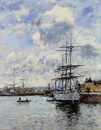 Deauville, the Basin | Eugene Boudin | outdated