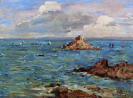 The Sea at Douarnenez | Eugene Boudin | outdated