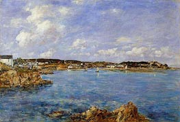 Douarnenez, the Bay, View of l'Ile Tristan, 1897 von Eugene Boudin | Gemälde-Reproduktion