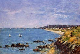 Trouville, View from the Heights, 1897 von Eugene Boudin | Gemälde-Reproduktion