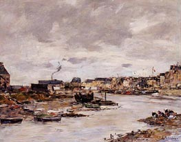 The Inner Port of Trouville at Low Tide, undated von Eugene Boudin | Gemälde-Reproduktion