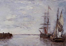The Port at Deauville, undated von Eugene Boudin | Gemälde-Reproduktion