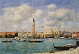 Venice, The Campanile, View of Canal San Marco, 1895 von Eugene Boudin | Gemälde-Reproduktion