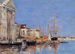 Venice, the Customs House, 1895 by Eugene Boudin | Painting Reproduction