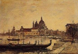 Venise - Le Mole et la Salute | Eugene Boudin | Painting Reproduction