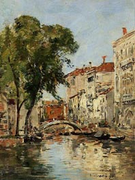 A Small Canal in Venice, 1895 by Eugene Boudin   Painting Reproduction