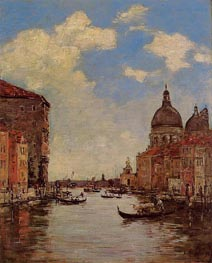 Venice, the Canal de la Gandara, 1895 by Eugene Boudin   Painting Reproduction