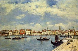 Venice, View from San Giorgio, 1895 by Eugene Boudin   Painting Reproduction