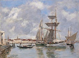 Venice, The Grand Canal, 1895 by Eugene Boudin   Painting Reproduction