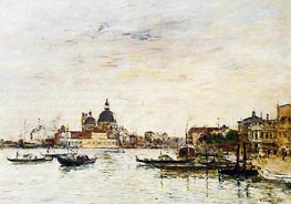 Venice, the Mole at the Entrance, 1895 by Eugene Boudin   Painting Reproduction