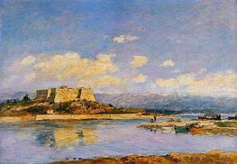 Antibes, Fort Carre, 1893 by Eugene Boudin | Painting Reproduction