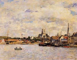Fecamp, The Port, 1892 by Eugene Boudin | Painting Reproduction