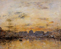 The Commerce Basin, Le Havre, 1892 by Eugene Boudin | Painting Reproduction