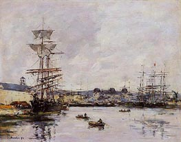 Le Havre, the Casimir Delavigne Basin, 1892 by Eugene Boudin | Painting Reproduction