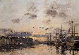 Fecamp, the Basin, c.1892/94 by Eugene Boudin | Painting Reproduction