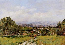 Near Antibes, 1893 by Eugene Boudin | Painting Reproduction
