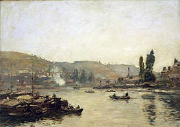 The Seine at Rouen, 1895 by Eugene Boudin | Painting Reproduction