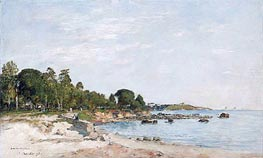 Juan-les-pins, the Bay and the Shore, 1893 by Eugene Boudin | Painting Reproduction