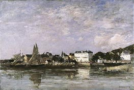 View of the Harbour at Trouville, 1878 by Eugene Boudin | Painting Reproduction
