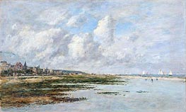 Deauville at Low Tide, 1897 by Eugene Boudin | Painting Reproduction