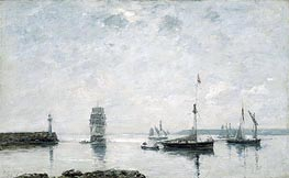 Harbor Entrance, 1873 by Eugene Boudin | Painting Reproduction