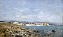 View of Antibes, 1893 by Eugene Boudin | Painting Reproduction