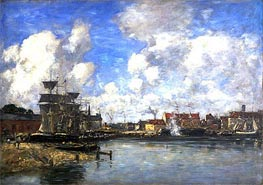 Dunkirk, 1889 by Eugene Boudin | Painting Reproduction