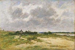 Etaples, les Bords de la Canche, 1891 by Eugene Boudin | Painting Reproduction