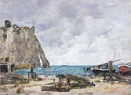 Beach at Etretat | Eugene Boudin | Painting Reproduction