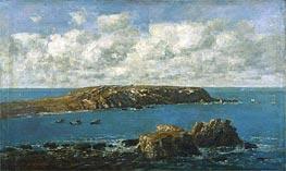 Camaret, Le Toulinguet, c.1871/73 by Eugene Boudin | Painting Reproduction